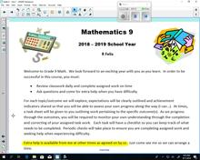 Math 9 Intro